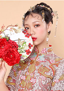 原野,新娘妆,中式